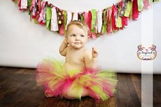 Pink and Green Tutu Raspberry pink and Lime by SweetPetiteTutu