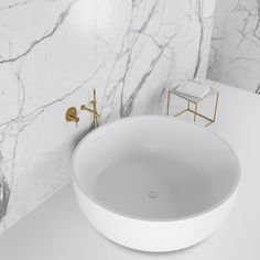 Lusso Stone Notion Stone Resin Solid Surface Freestanding Round Bath 1350 | Stone Resin Baths