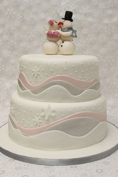 Snow Couple Cake