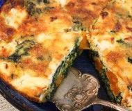 no crust spinach and sweet potato quiche