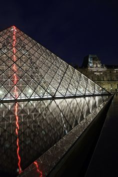 Louvre at night, Paris.