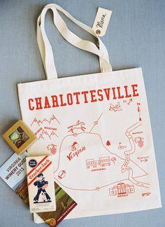 Charlottesville wedding welcome bag | Abby Jiu