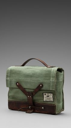 Canvas satchel