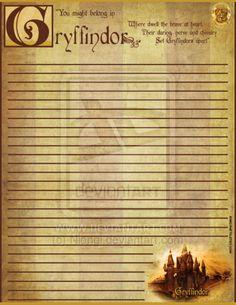 Represent Gryffindor Stationery by Niongi.deviantart.com on @deviantART