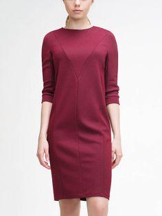 Платье цвет бордовый, Трикотажное полотно, артикул 1163700qs4611