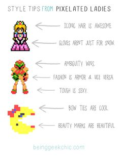 A Lesson in Style From Princess Peach and Ms. Pac Man.