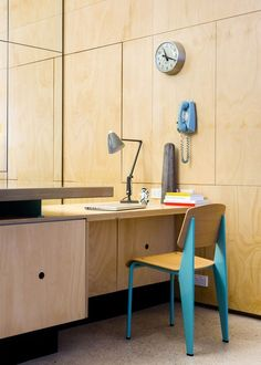 Home Office Lighting, Jean Prouve Chair, School Clock | Remodelista