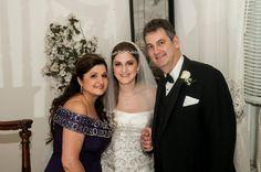 Bride with Mom & Dad ~  Makeup for bride & mom by Barbara