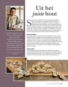 Een strik in hout snijden | interview Patrick Damiaens | Herenhuis Magazine