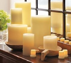 Pottery Barn Flameless Candles Decor Look Alikes  Pottery Barn Flameless Wax Pillar Candles $1250
