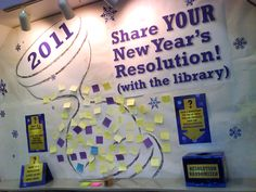 new years library display