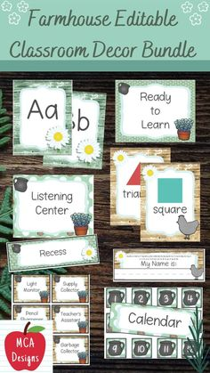 Check out my Farmhouse Editable Classroom Décor Bundle! This features all you need to have a fresh new look for your classroom this fall! Check out the preview for a quick look at this colorful theme. My Farmhouse Classroom Décor Bundle features my ENTIRE Farmhouse collection including several editable features! #teacherlife #teacherspayteachers #tpt #farmhouse Classroom Décor, 5th Grade Classroom, Classroom Supplies, Classroom Posters, Classroom Organization, School Resources, Teacher Resources, Teacher Tips, Classroom Resources