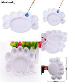 [Visit to Buy] 1pcs White Nail Care Palette Plastic Dappen Dish Nail Tools for Powder Polish Liquid Color Mixing Acrylic Paint DIY Beauty Tool #Advertisement