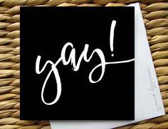 Yay Herzlichen Glückwunsch Card Promotion Card von raincityprints
