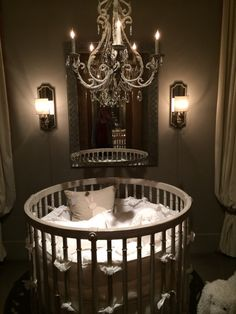 Round Crib from Baby & Child Restoration Hardware - If only... ♡♡