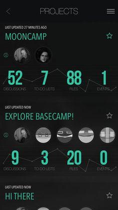 screenshot of MoonCamp iOS application