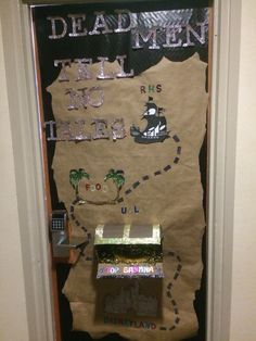 Cheer Door Decor For UCA camp  #cheercamp #door #uca #ucla  #pirates