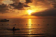 Sunset Swim in Jamaica