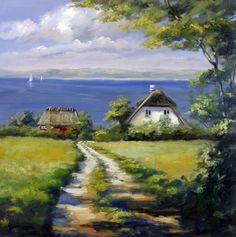 Kegnes, Vesterby, Denmark Scenery Paintings, Denmark, Image, Painters, Artists