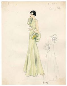 - Costume Institute - Digital Collections from The Metropolitan Museum of Art Libraries 1930s Fashion, Vintage Fashion, Vintage Style, Costume Institute, Sketches, Glamour, Costumes, Bergdorf Goodman, Fashion Illustrations