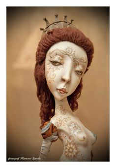 "semiramis paperclay ooak art doll ""the hanging gardens"" by Lubov Lukiyanchuk"