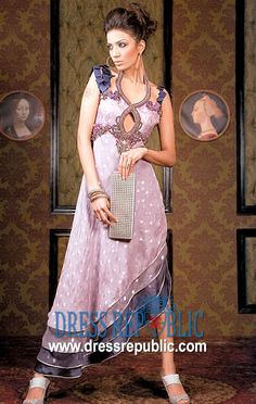 Lilac Megan, Product code: DR1460, by www.dressrepublic.com - Keywords: High fashion party gown online sale in New York, USA