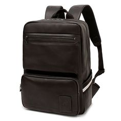 Leather Backpack for Men College Laptop Backpacks TOPPU 615 (1)