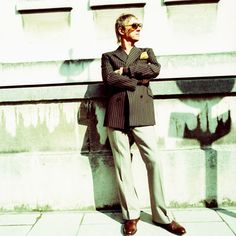 """Paul Weller, the """" Modfather """" always dressed impeccable from his early days in the Jam then later in Style Council, rocking Saville Row Suits and playing vintage Rickenbacker guitars. Still putting out great music today."""