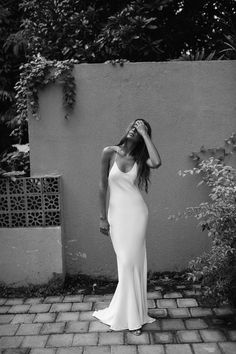 Lola Varma- Bridal for the modern day minimalist. Offering handmade silk wedding gowns and two-pieces that are sleek and elegant. Wedding Bells, Wedding Gowns, Slinky Wedding Dress, Wedding Reception, Minimalistic Style, Wedding Inspiration, Style Inspiration, Style Ideas, Wedding Ideas