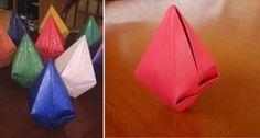 Aprenda como fazer passo a passo um balão de papel para decorar sua festa junina.