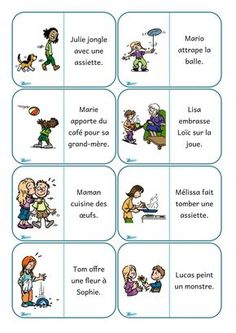 Dominos phrases Education And Literacy, French Education, French Teaching Resources, Teaching French, Grade 1 Reading, French Classroom, French Immersion, French Lessons, Speech Therapy
