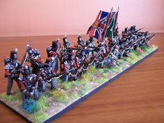 British firing line, Waterloo (28mm model)