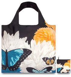Loqi BO.BU Design-Einkaufstasche Botany, Butterfly