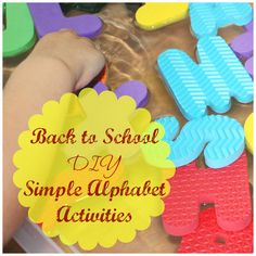 """Awesome list of creative and """"Simple Back to School Alphabet Activities Part II"""" from Little Bins for Little Hands."""