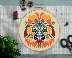 This item is unavailable Cross Stitch Sea, Cross Stitch Geometric, Cute Cross Stitch, Modern Cross Stitch Patterns, Stitching Patterns, Contemporary Embroidery, Modern Embroidery, Embroidery Hoop Crafts, Embroidery Art