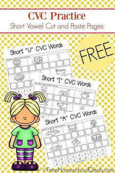Short Vowel Activities, Phonics Activities, English Activities, Language Activities, Reading Activities, Cvc Worksheets, Short I Worksheets, Kindergarten Learning, Cvc Words