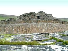 Entrance to Midhowe: Photograph by Sigurd Towrie.  Midhowe Broch on Rousay