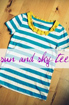 Tee with pleated neckline and bow