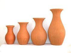 vasos de barro decorativos