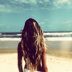 Beach hair - funny how my hair is getting lighter and lighter! #naturalblonde !