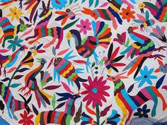 otomi indian embroidery