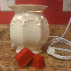 My first attempt at making my own wax melts for my wax warmer. Their cinnamon scented, I think next time I might do a pine scented.