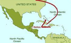 physical map of Belize Belize large detailed road and physical map
