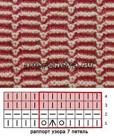 узор 494 полосатый с ажуром | каталог вязаных спицами узоров | Спицы - Узоры - Многоцветные | Постила Knitting Charts, Knitting Socks, Knitting Stitches, Knitting Patterns Free, Knit Patterns, Free Knitting, Stitch Patterns, Avercheva Ru, Mosaic Patterns