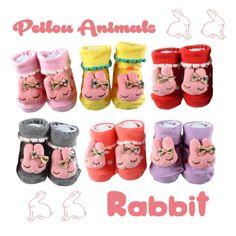 Peilou 貝柔- 台灣織造‧幸福棉品-產品 (【單入】貝柔手縫公仔寶寶止滑襪(0~18個月)-粉紅兔)