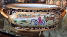 Large Chinese Import Porcelain Foot Bath