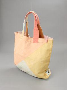 canvas beach bag / ikou tschuss Clutch Bag, Tote Bag, Craft Bags, Fabric Bags, Reusable Bags, Tote Handbags, Bag Making, Leather Bag, Purses And Bags