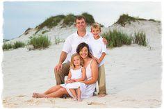 Family beach pose