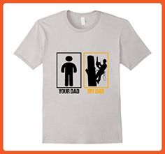 Mens Arborist Dad t shirt - Arborist T shirt  Large Silver - Relatives and family shirts (*Partner-Link)