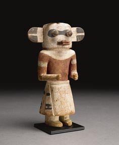 Hopi Polychrome Wood Kachina Doll, probably depicting Hochani   Lot   Sotheby's